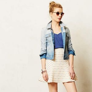 "Anthropologie Maeve ""Lucaya"" flared tweed skirt"